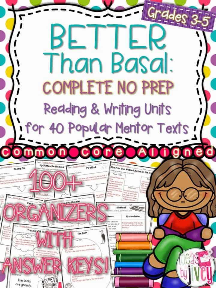 Better Than Basal Complete No Prep with Ideas by Jivey