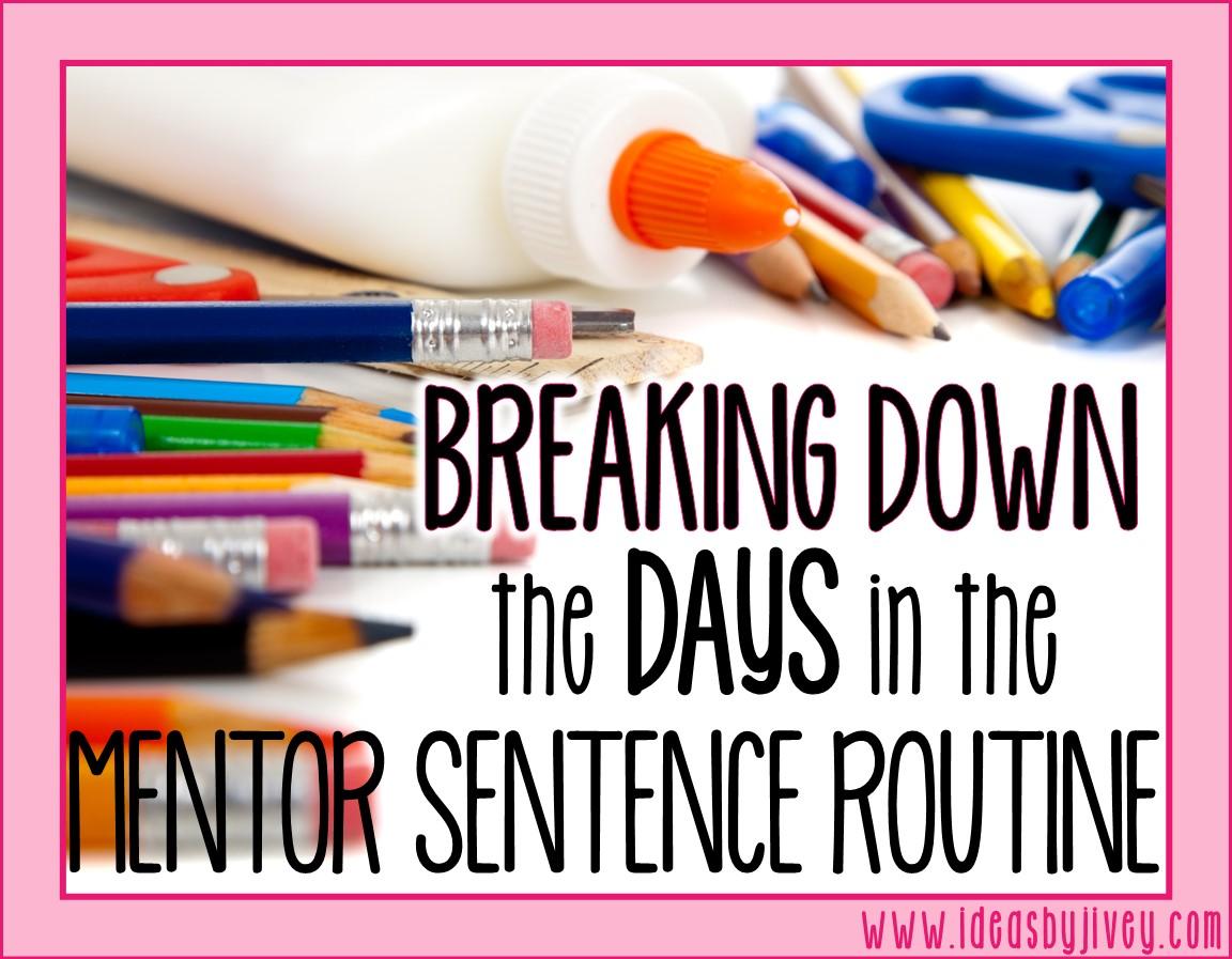 mentor sentences routine days
