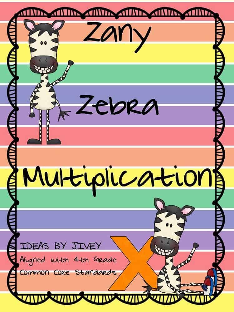 Zany Zebra Multiplication Pack with Idea by Jivey