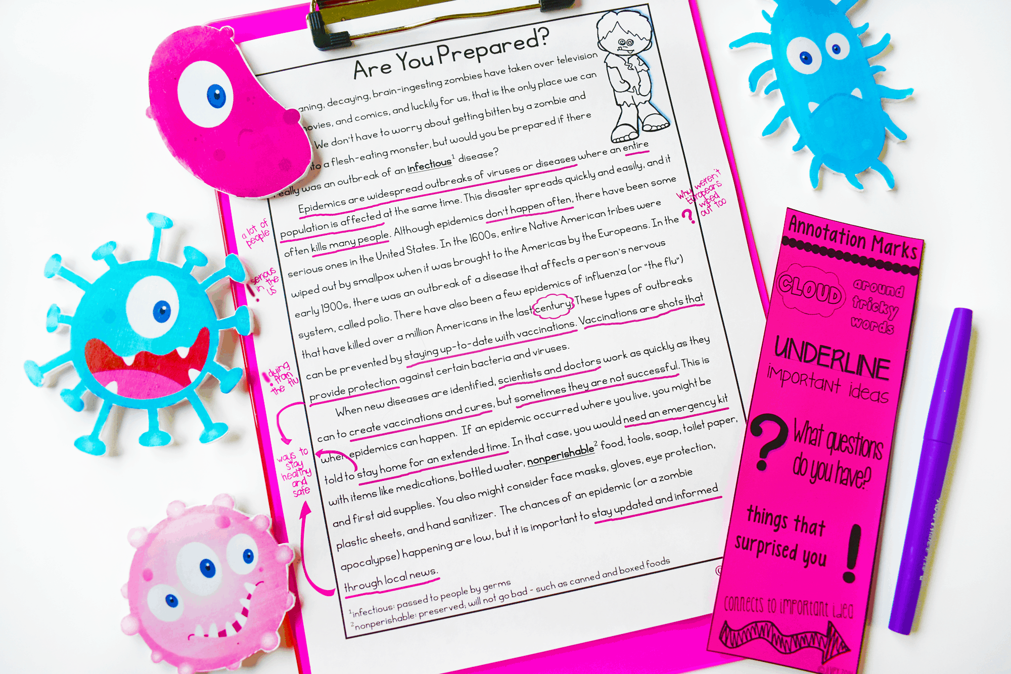 Check out the modeled lesson for annotation with freebies you can download!