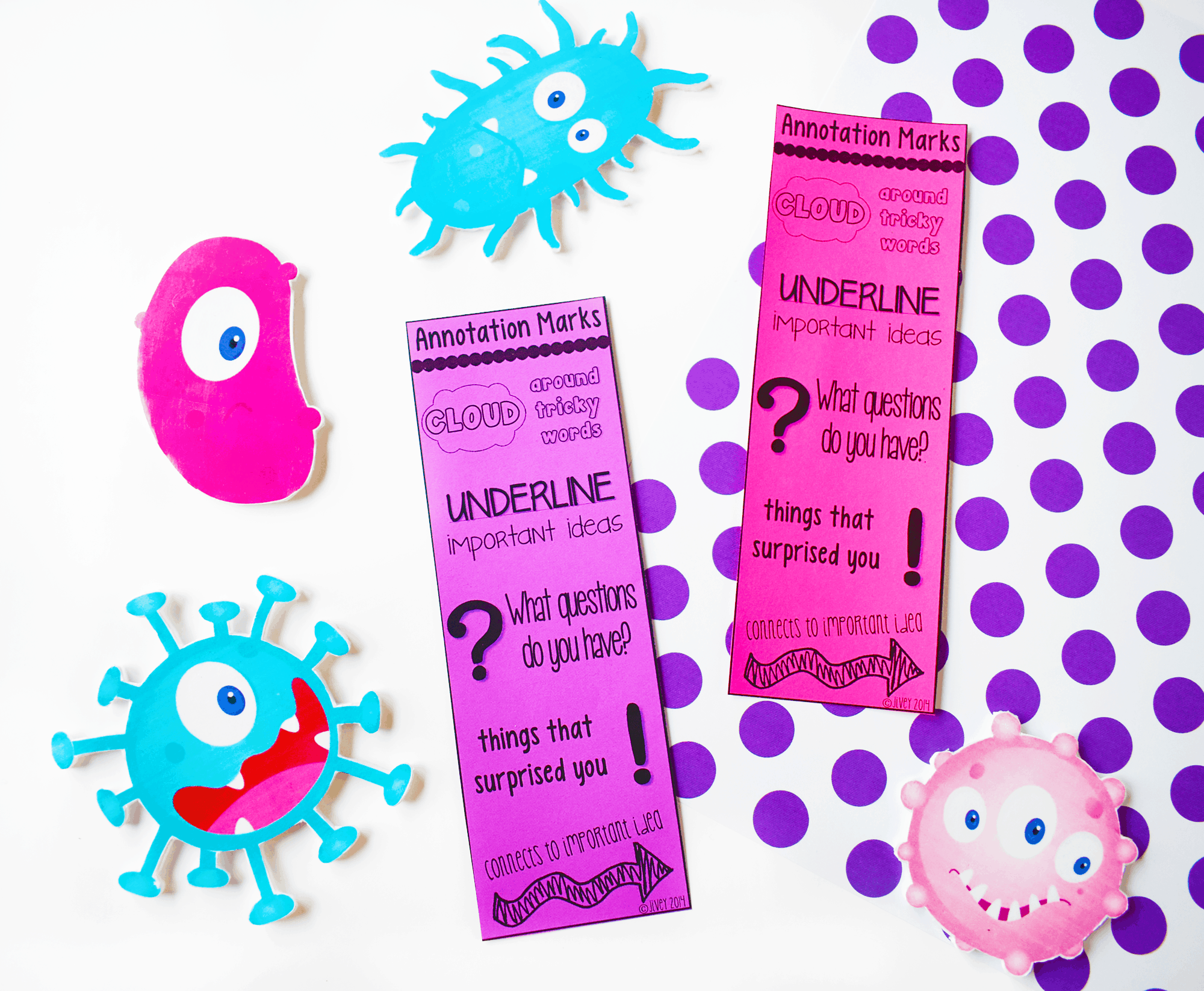 Use these free bookmarks to help students annotate correctly!