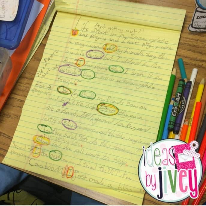 Freebie Rainbow Editing and Revising with Ideas by Jivey.