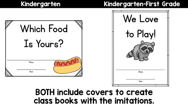 Kindergarten and First Grade Mentor Sentences with Ideas by Jivey.