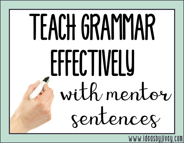 Learn the why and how of teaching grammar in context, rather than in isolation, using mentor sentences! Jivey walks you through each step of the routine.