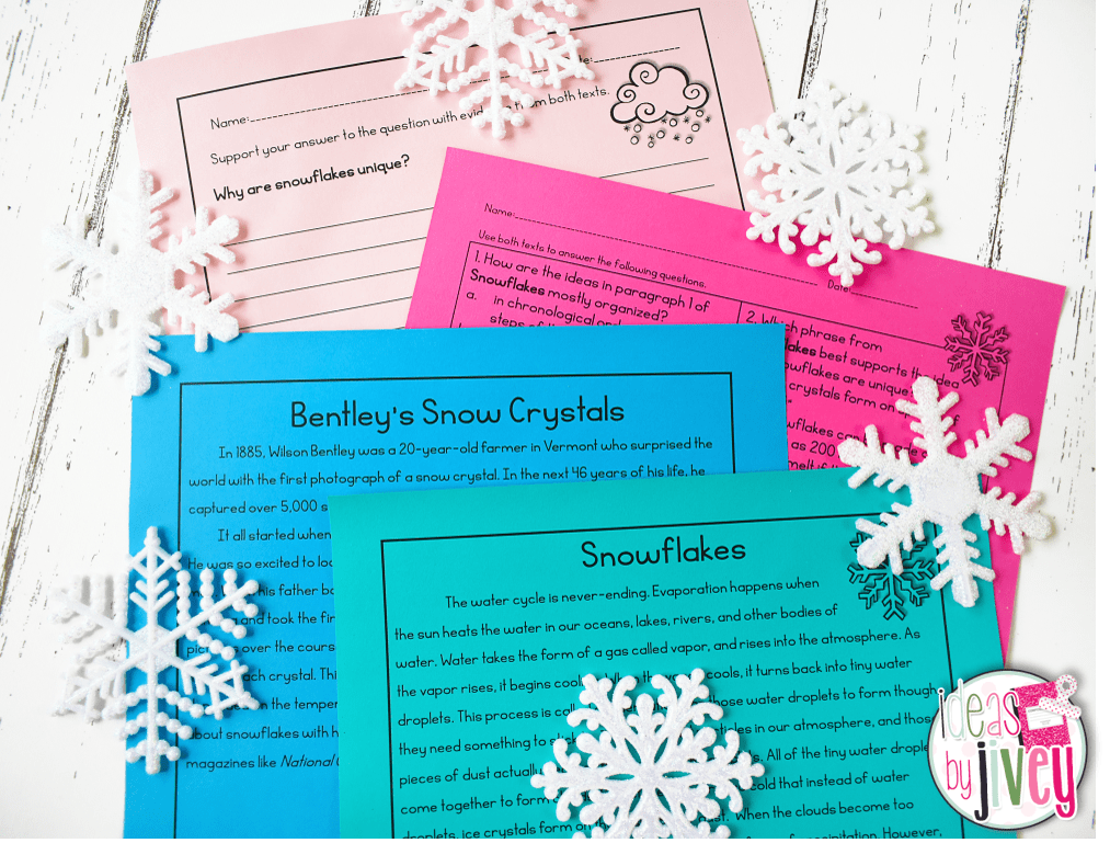 Winter and Snow Paired Texts for Upper Grades