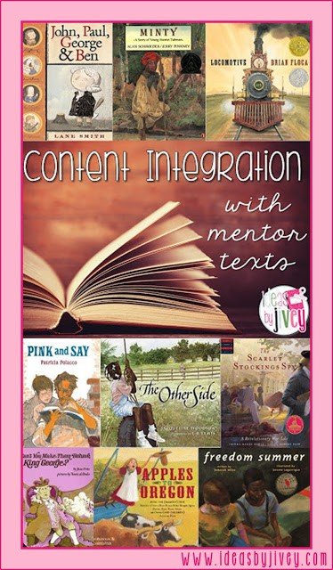Are you looking for ways to maximize your time in the classroom? This post shows you how to integrate social studies content with ELA using mentor texts - freebie included for Henry's Freedom Box!