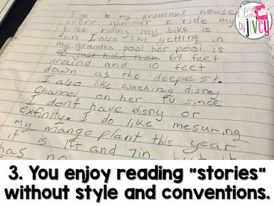 If you love reading story after story of simple and/or run-on sentences with no description, vivid language, capitals, or periods, then mentor sentences aren't right for you.