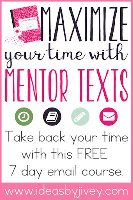 Mentor texts will give teachers back some of the precious teaching time they need as one text can be used to integrate reading, writing, grammar, and more! Sign up for a free one week email course to get everything you need to maximize your teaching time with mentor texts.