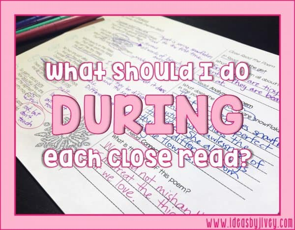 What Should I Do During Each Close Read?