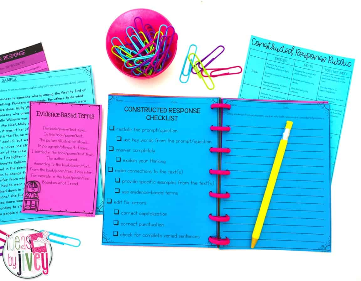 Checklists are a great way to help students remember the strategies and techniques you have taught them to use.