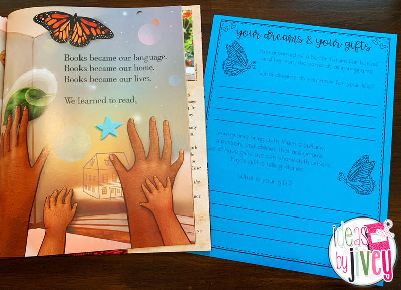 Use the mentor text, Dreamers by Yuyi Morales, to lead an anti-racist lesson on the gifts and beauty of latinx immigrants. Free download included. #mentortext #diversementortexts #weneeddiversementortexts #3rdgrade #4thgrade #5thgrade