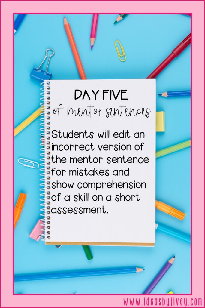 mentor sentence day five directive