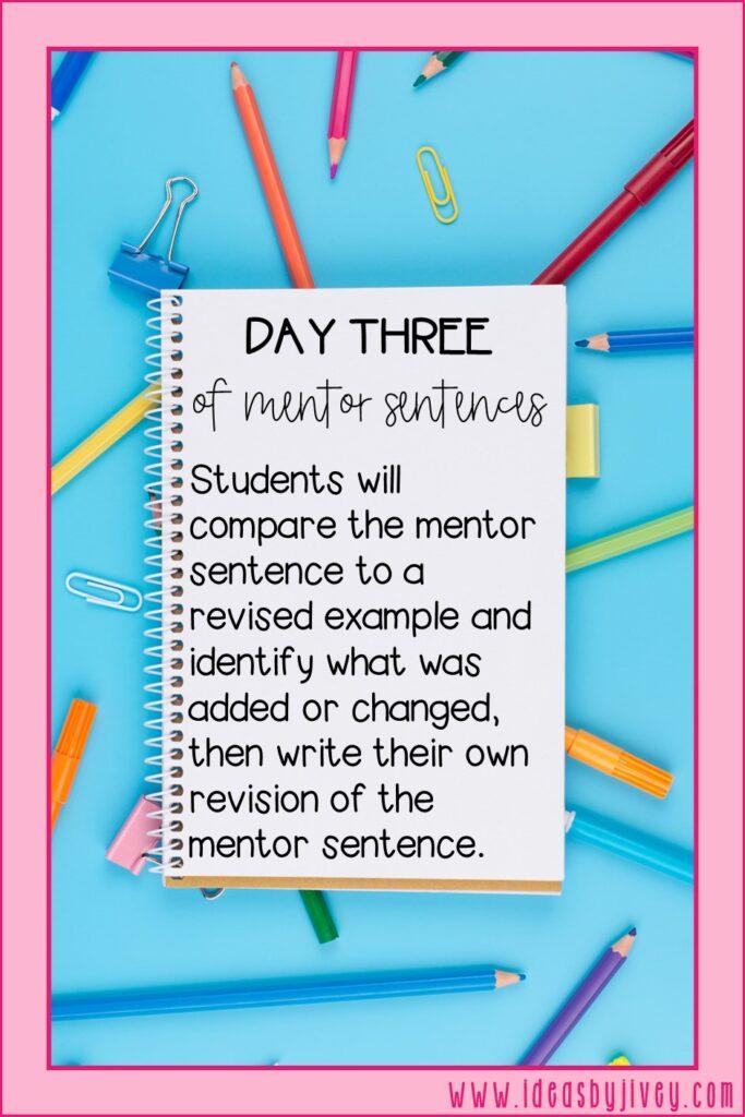 mentor sentence day three directive