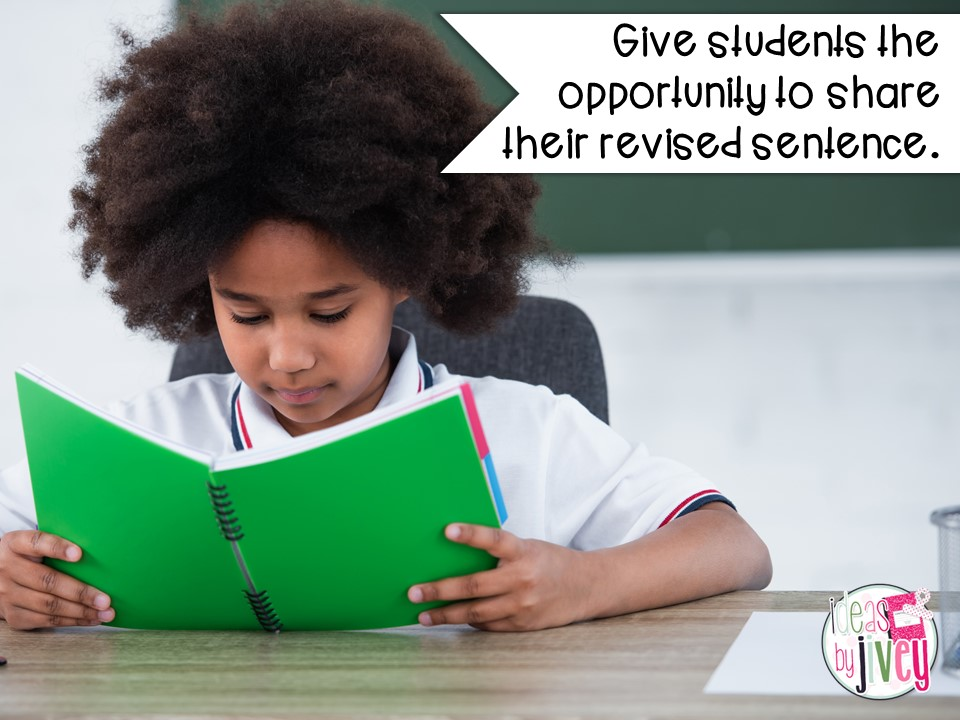 mentor sentence share revisions