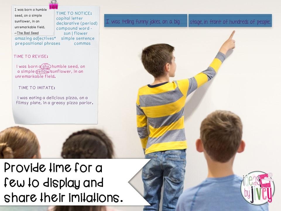 mentor sentence student share imitation