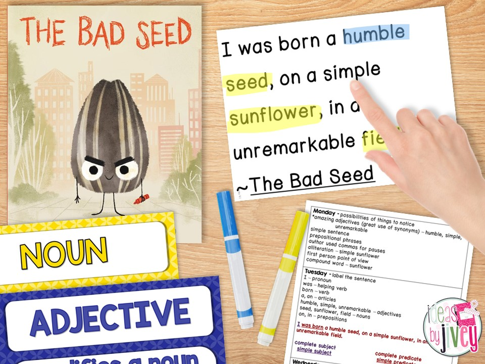 mentor sentences label parts of speech