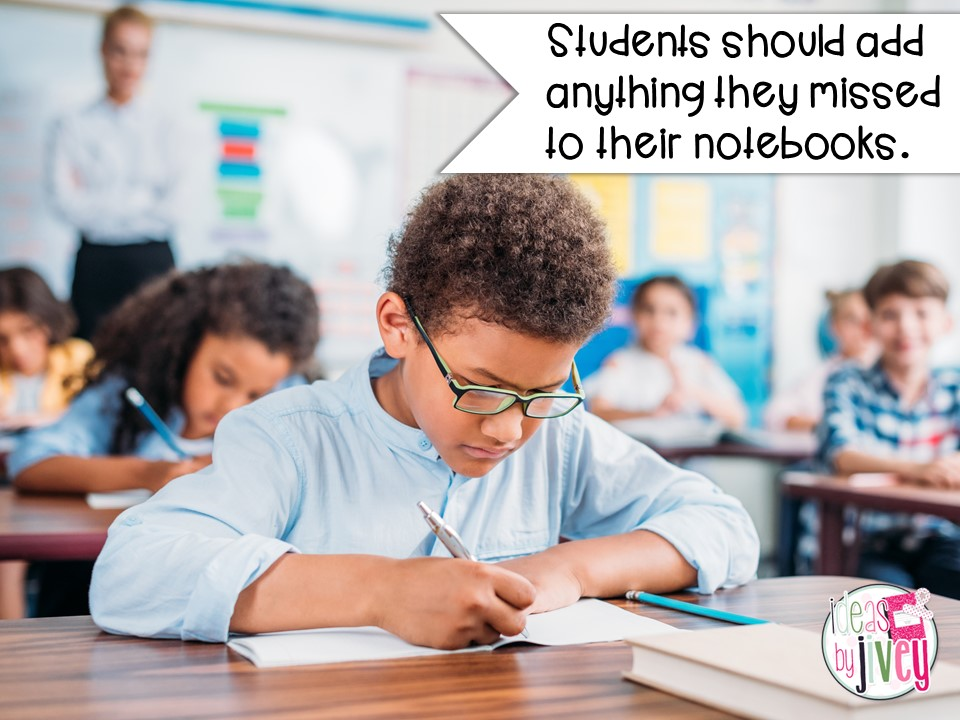 mentor sentences student notebooks